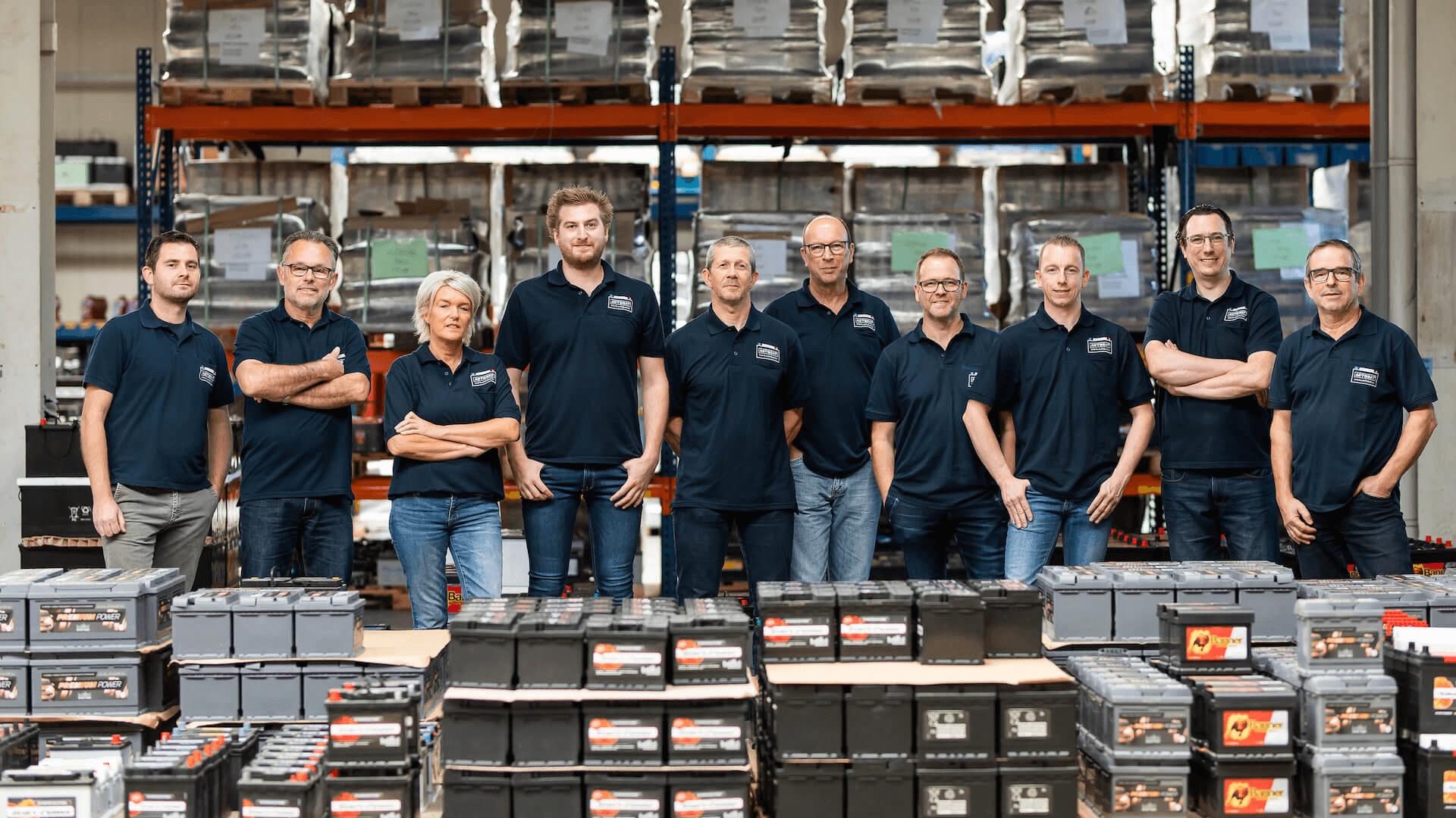 Groepsfoto van het Autobat team.